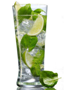 basil lime fizz drink