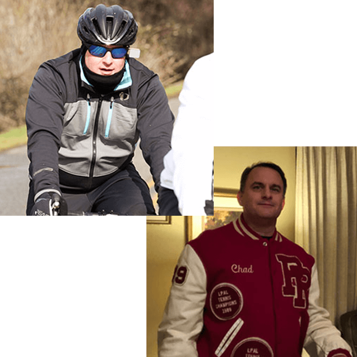 Chad Biking after weight loss
