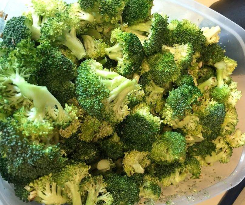 Broccoli Salad With Garlic & Sesame Oil