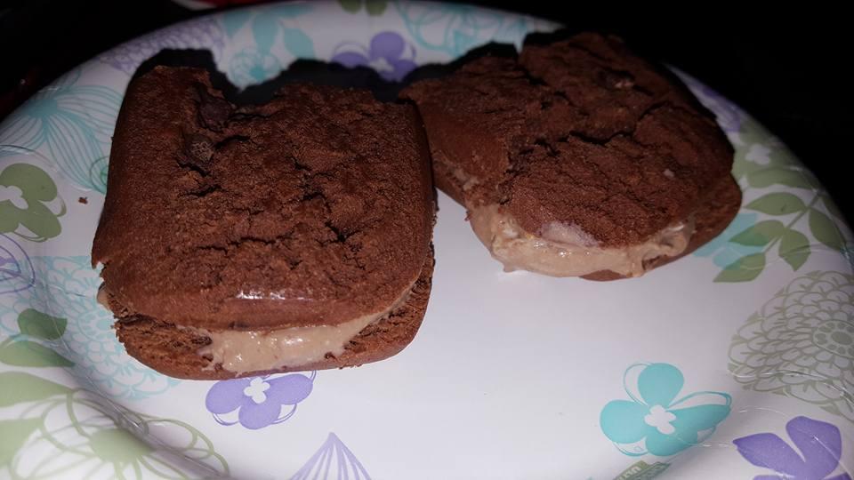 Chocolate Peanut Butter Ice Cream Sammie